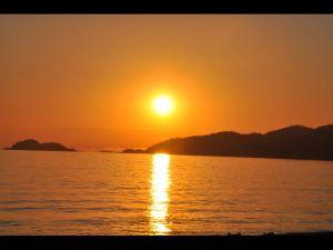 coucher de soleil  Agawa Bay